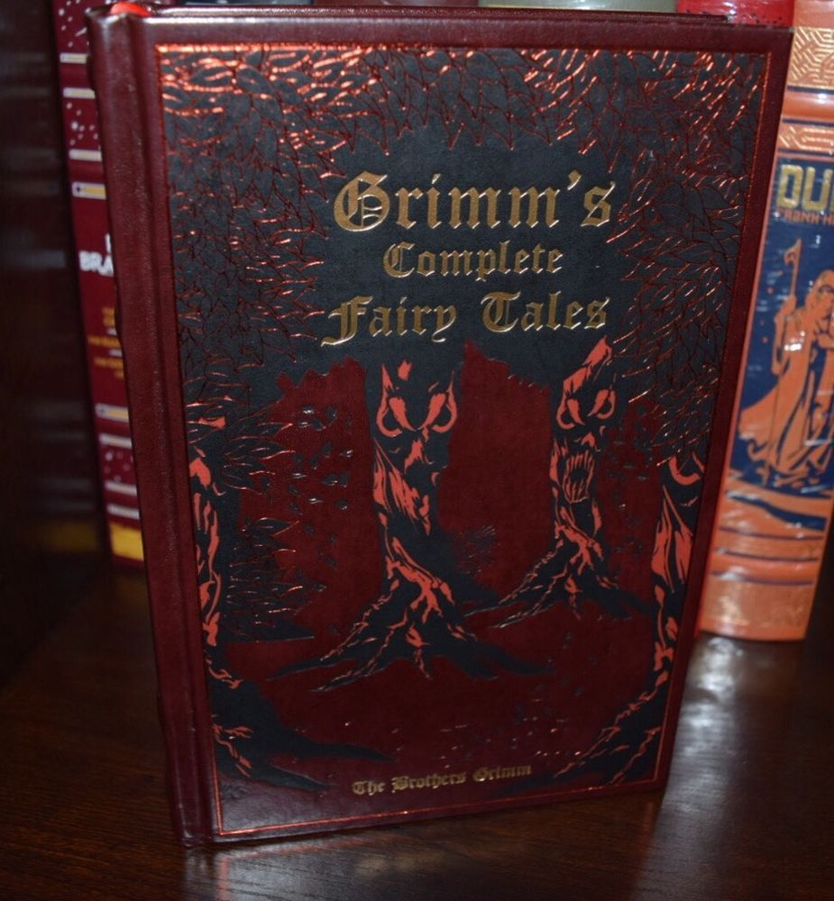 The Brothers Grimm Complete Fairy Tales Collection Leather Bound Stories Classic