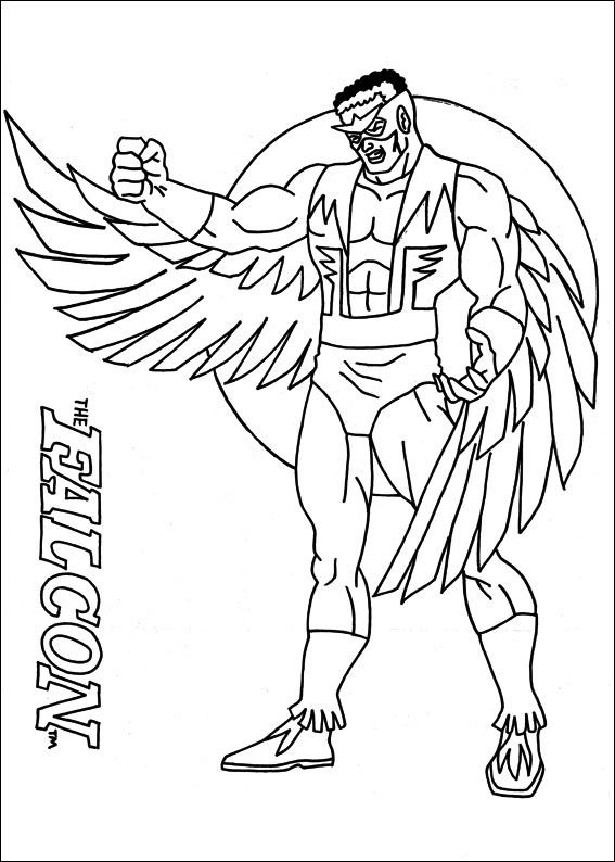 Captain America Målarbilder för barn. Teckningar online till skriv ...