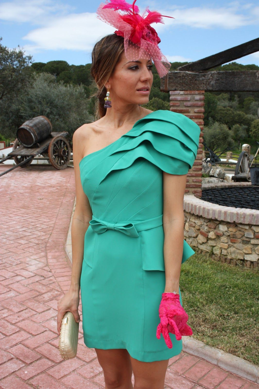 Tocados para vestido verde agua