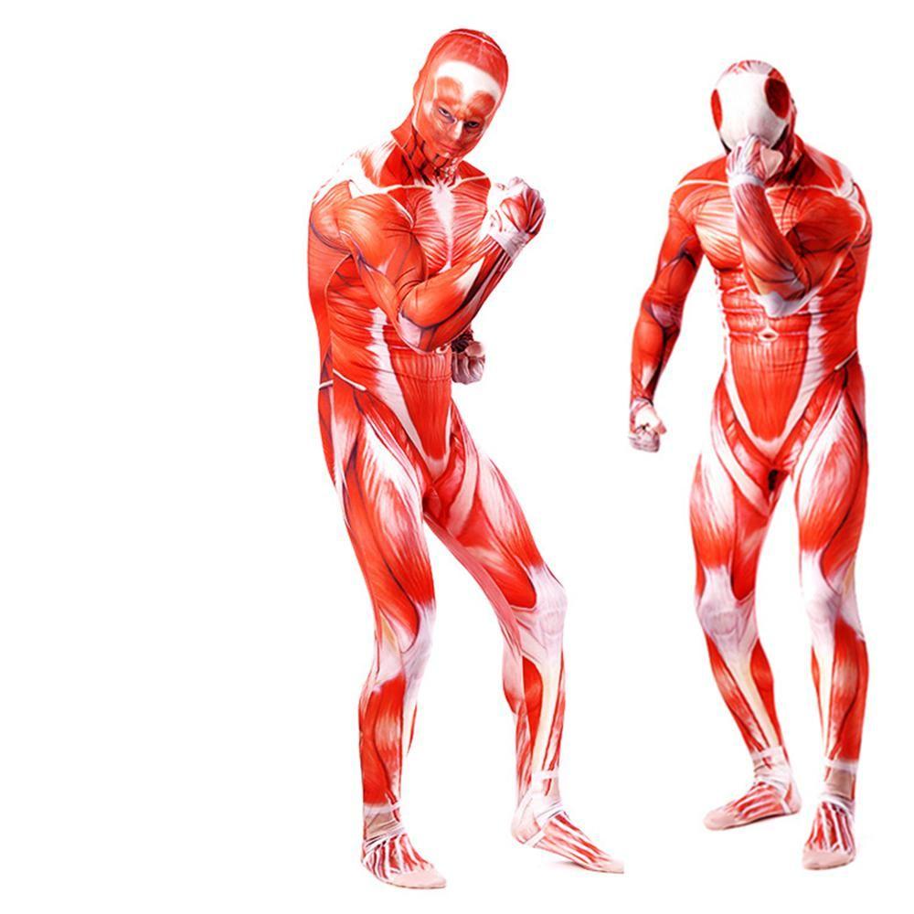 Attack On Titan Eren Jaeger Costumes Halloween 3d Printed Bodysuit