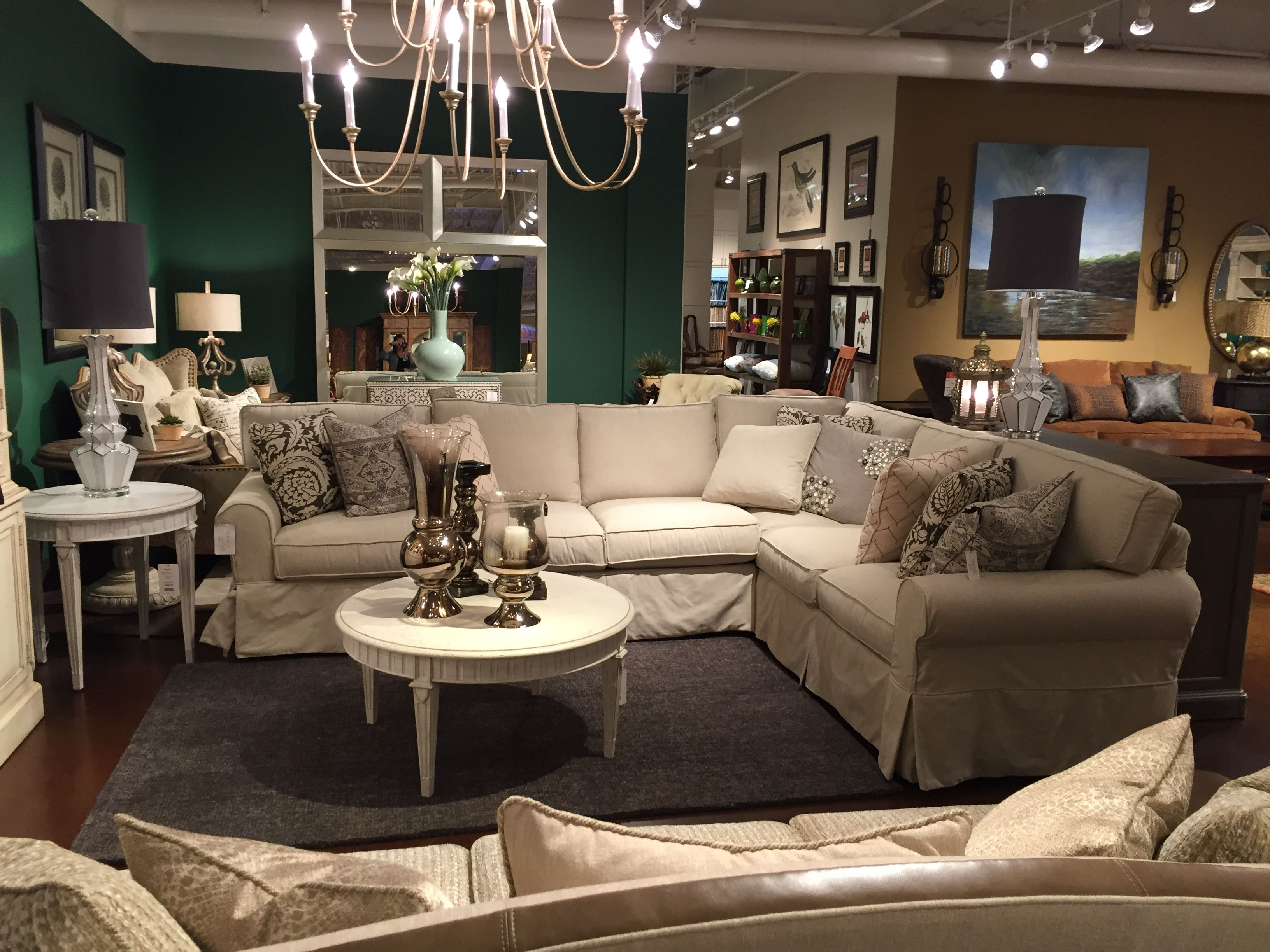 Recently Purchased Sectional By Paula Deen For Craft Master Natural Fabric Called Guest List