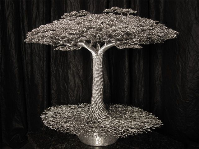 Wire Trees by Kevin Iris wire trees sculpture