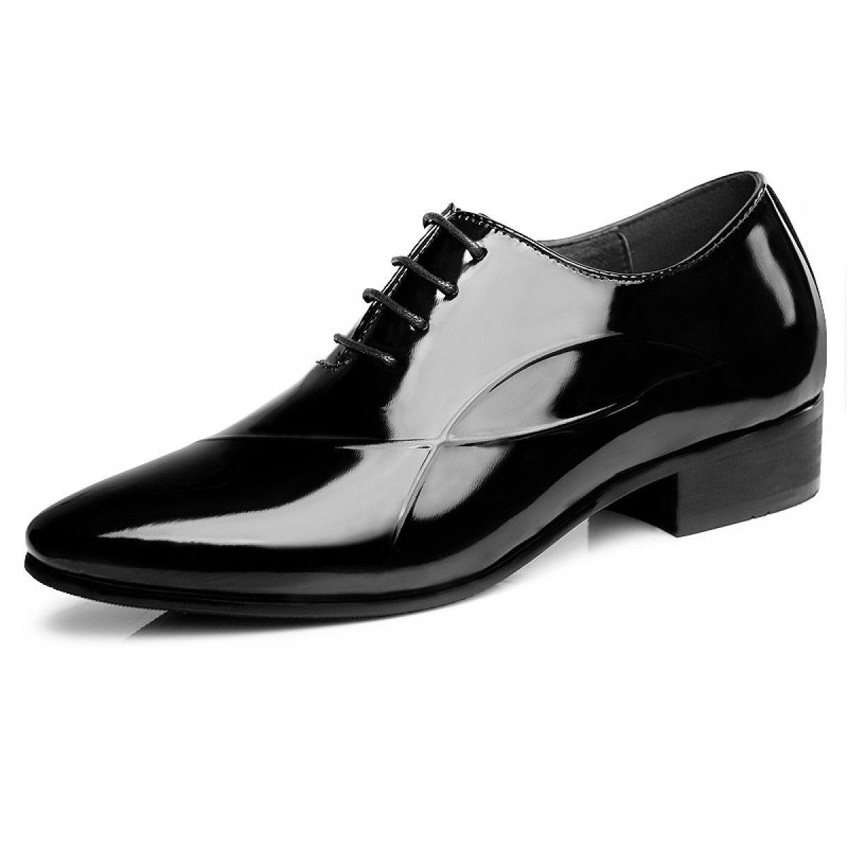 Shiny Tuxedo Wedding Shoes Add Taller 6cm Dress Shoes Men Tuxedo Shoes Business Shoes [ 1200 x 1200 Pixel ]