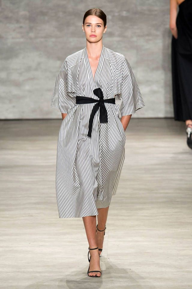 Suits and dresses on the runway this season referenced Japanese Kimono dressing. See more of the top 6 trends spotted at NYFW: