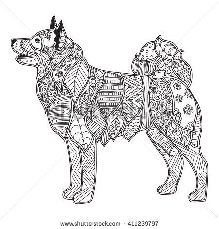 stock vector coloring pages for adults coloring book