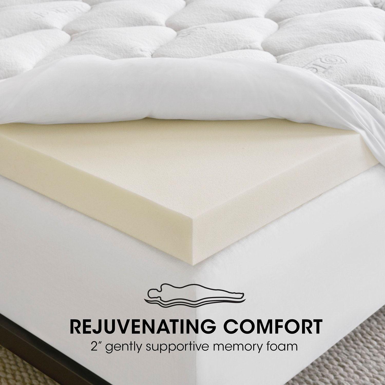 Serta Comfortplus Pillow Top Memory Foam Luxury Mattress Topper Memory Foam Luxury Mattresses Memory Foam Mattress Topper
