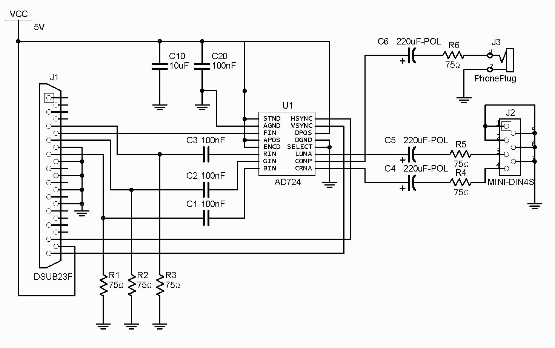 Hdmi To Vga Schematic Wiring Diagrams Schematics Within