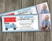 Train Ticket Invitation - FREE thank you card included. $15.00, via Etsy.