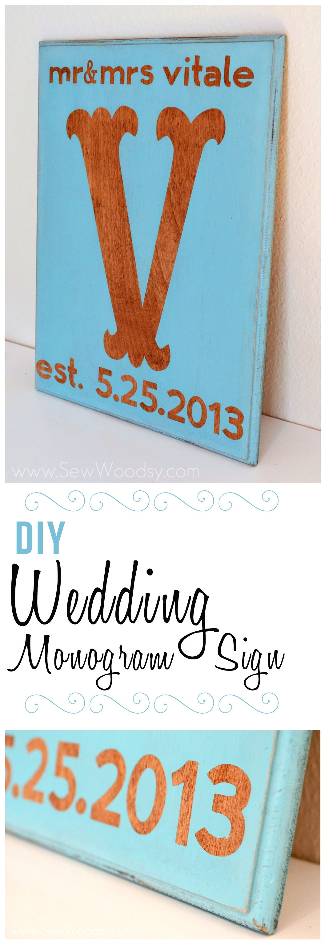 Two Months Ago We Attended The Wedding Of Our Good Friend From High School Day His Decided To Make Them A DIY Monogram Sign
