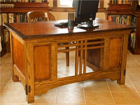 White Oak Office Desk Made In Usa Crafted Home Furniture