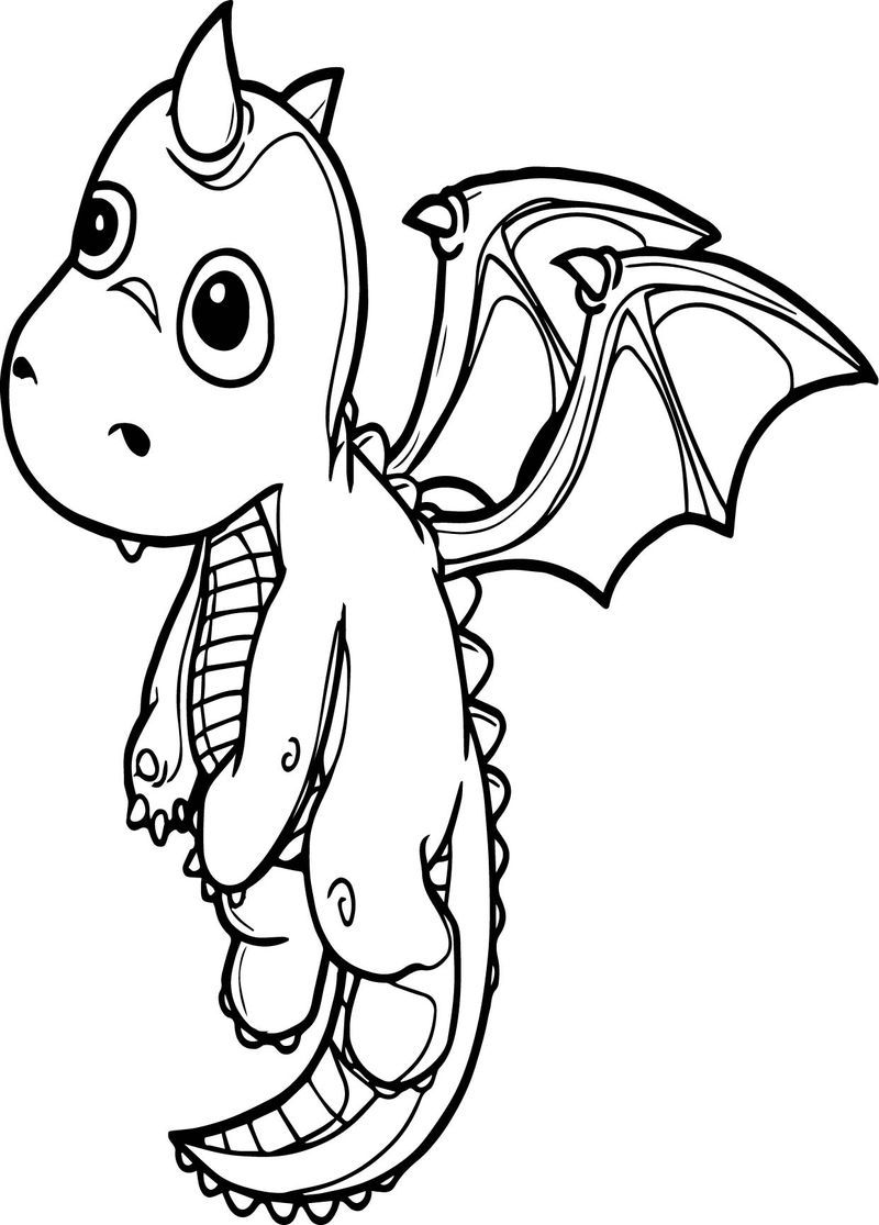 Flying Dragon Coloring Page See the category to find more ...