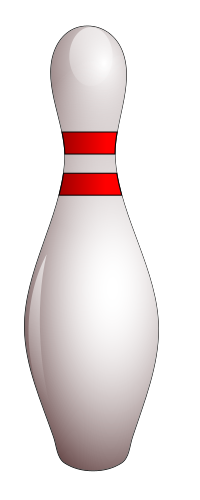 Bowling Pin Vector Graphic Created In Inkscape Graphic Design