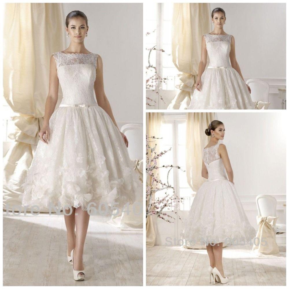 High neck wedding dresses  Vintage A Line Short Wedding Dresses vestidos de noiva High Neck