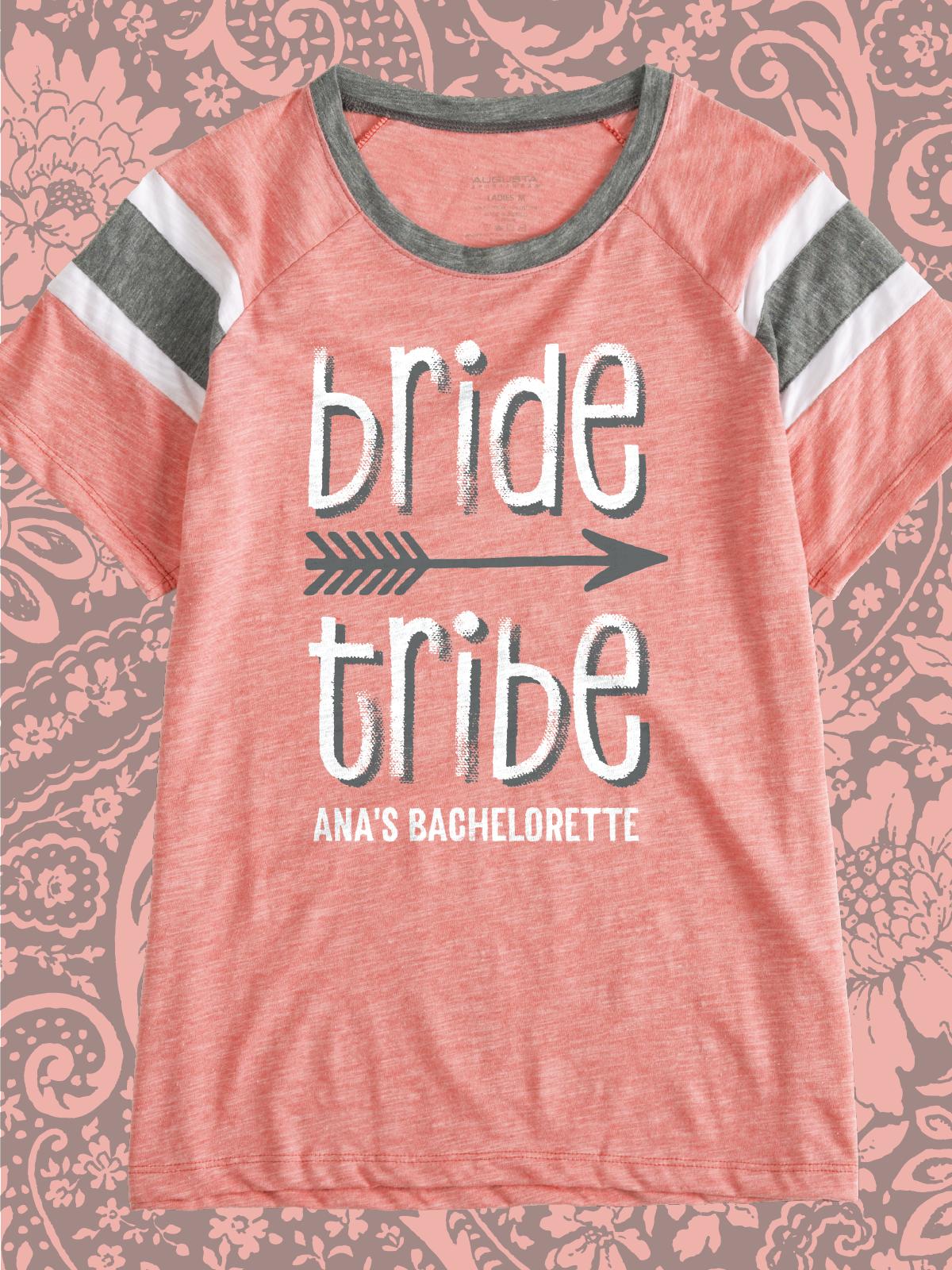 Bride Tribe cute design idea for custom bachelorette party t-shirts ...