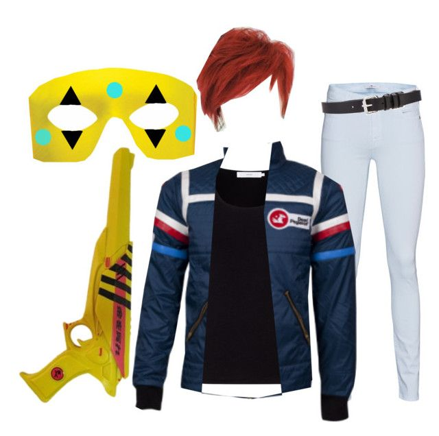 """Party Poison Cosplay"" by killjoy-sam ❤ liked on Polyvore featuring 7 For All Mankind, John Lewis and IRO"