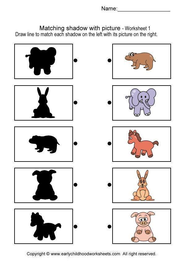Schaduwdieren! 3-5   KIGA   Pinterest   Wahrnehmung, Arbeitsblätter ...