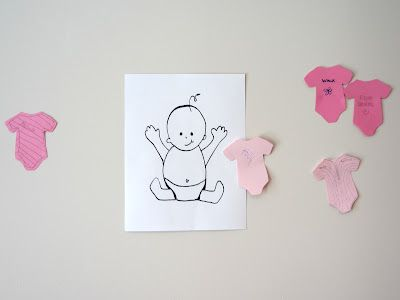 """""""Pin"""" The Onesie on the Baby- A super cute and simple baby shower game."""