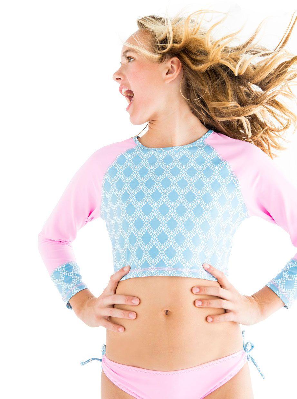 c1d951a764 Shop At Stella Cove | Tiffany Blue and Pink Rashguard Set for Girls ...