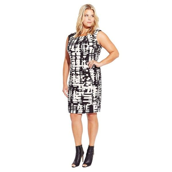 CALVIN KLEIN WOMENS Plus Patterned Shift Dress (love it! Very MOD)
