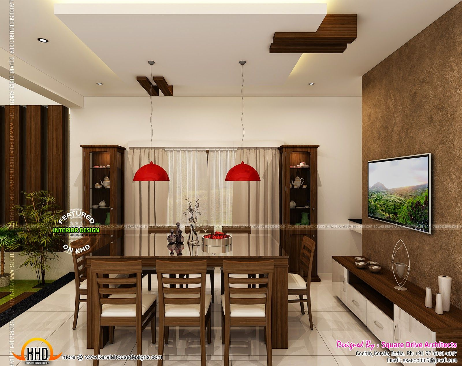 Lavish Dining Room Kerala House Design Home Interior Design