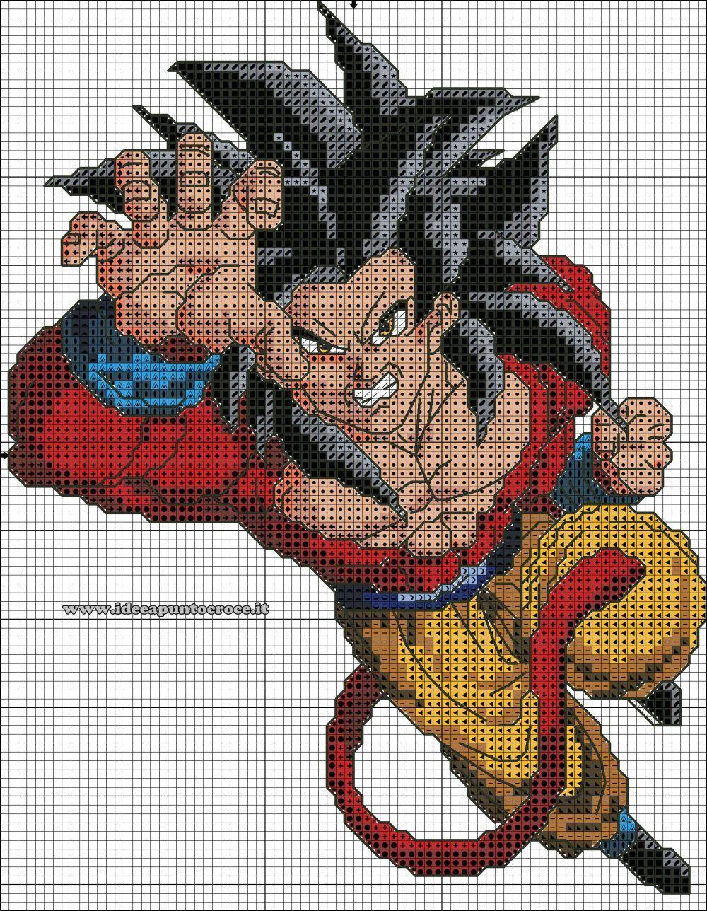 Son Goku Dragon Ball Perler Beads By Pjurst Bugelperlen