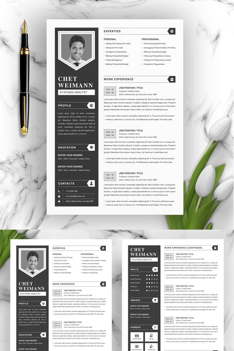 Chet Resume Template 83266 Creative resume templates