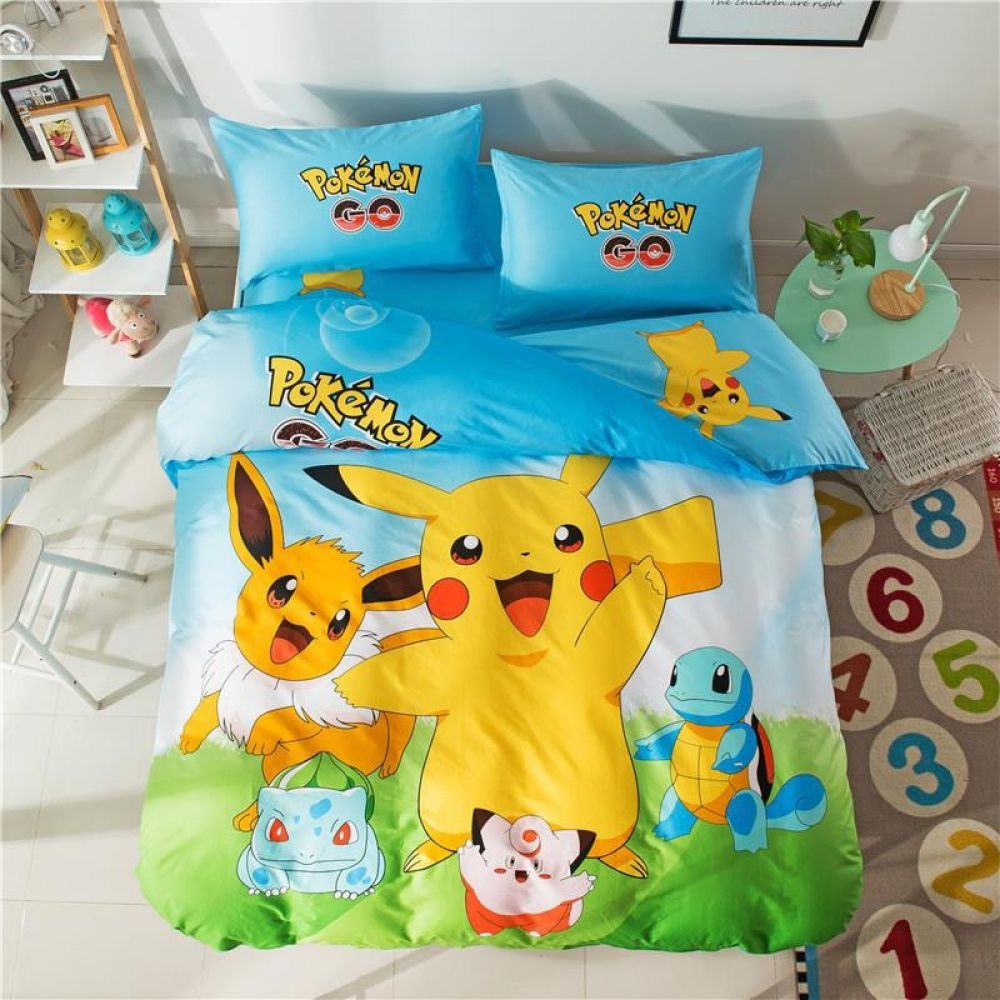 Ensemble Literie Housse Couette Pokemon Pikachu Prix 77 85 Livraison Gratuite Nintendoswitch Housse De Couette Ensembles De Literie Bedding Set