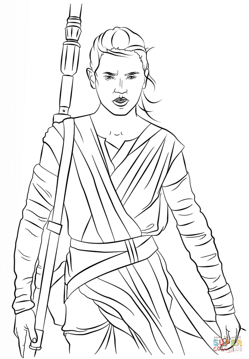 Rey From The Force Awakens Super Coloring Pokemon Coloring Pages Truck Coloring Pages Coloring Pages