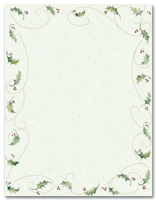 Geographics Printable Christmas Stationery paper is the most ...