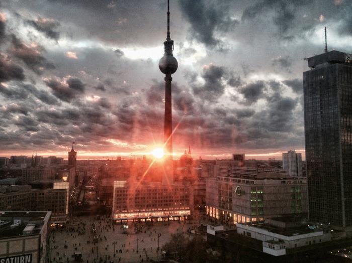 Berlin Alexanderplatz View From The Train Berlin City Berlin Germany