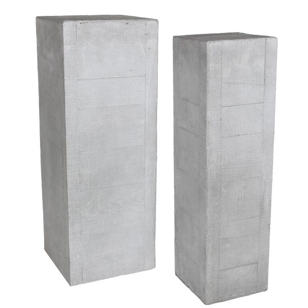 DK Living   Woodgrain Cement Pedestals #planter #pedestal