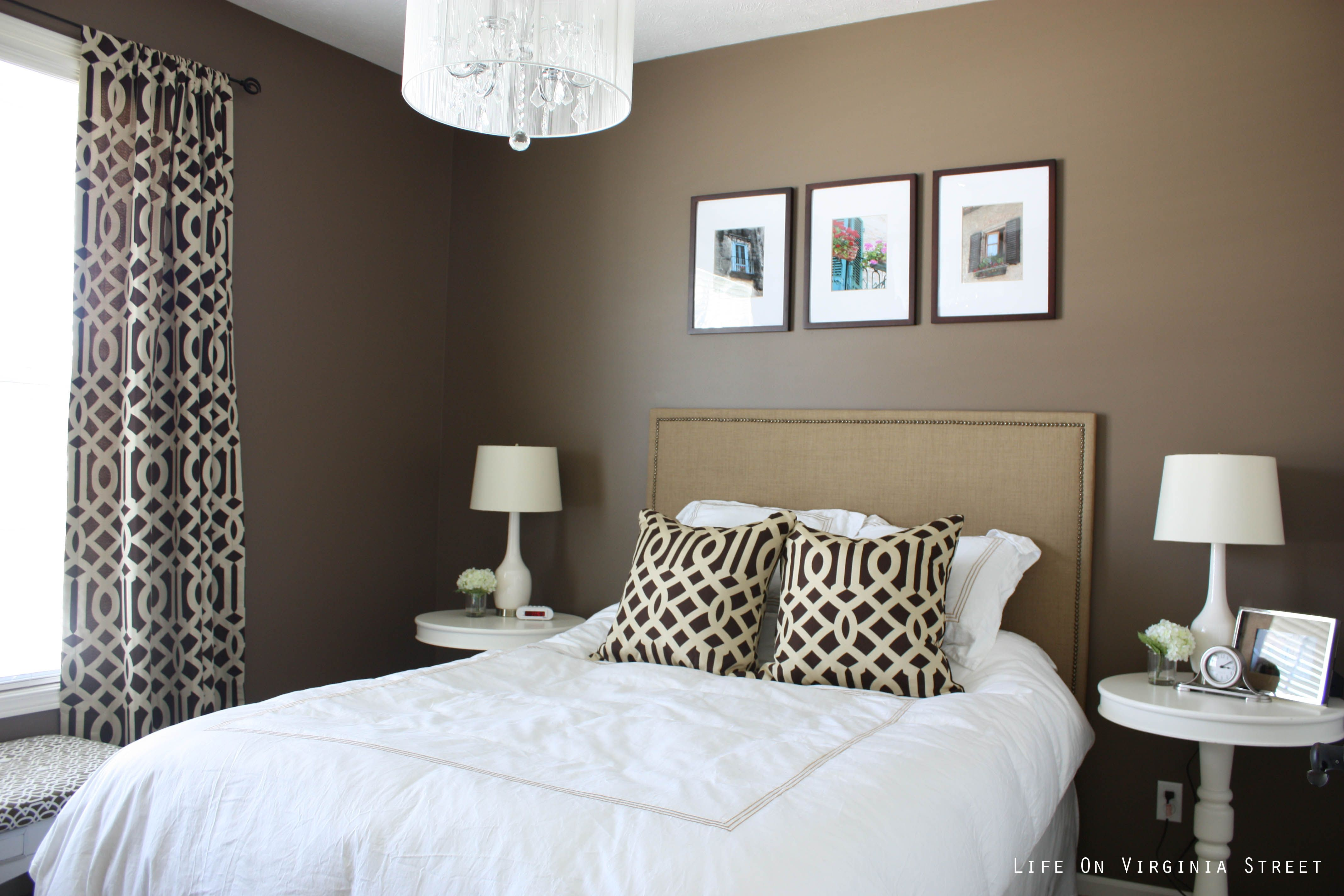 Mocha Latte by Behr Ultra - Trellis curtains and pillows ...