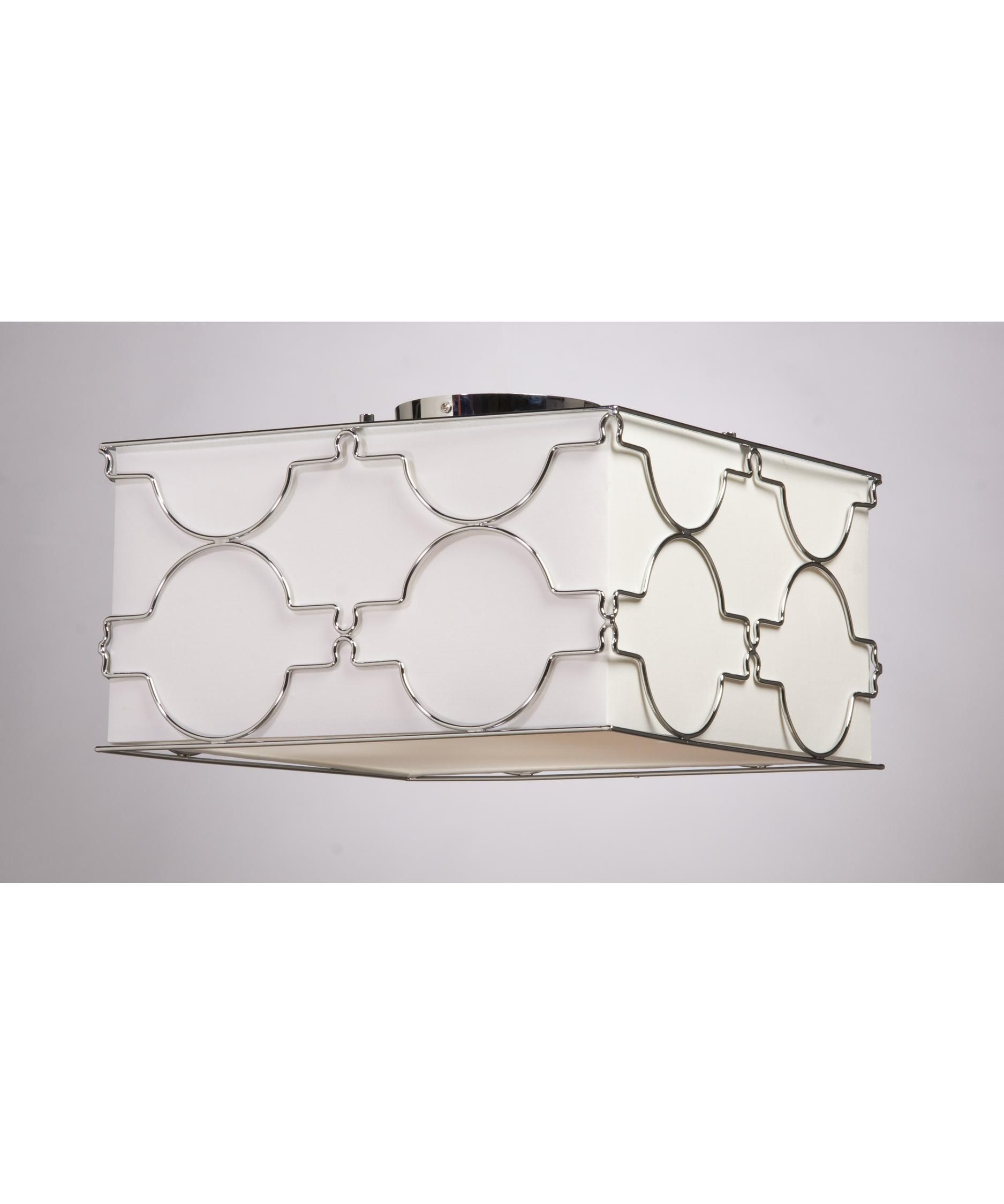 Shown in detailed chrome finish and white linen shade lighting steven chris by artcraft w chrome ceiling flush mount arubaitofo Choice Image