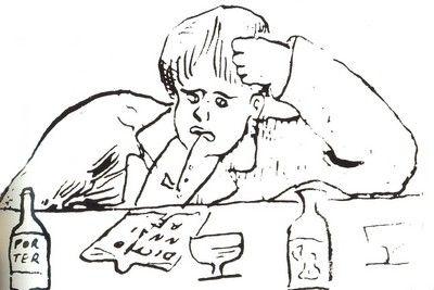 Arthur Rimbaud - Dessin par Paul Verlaine   Verlaine