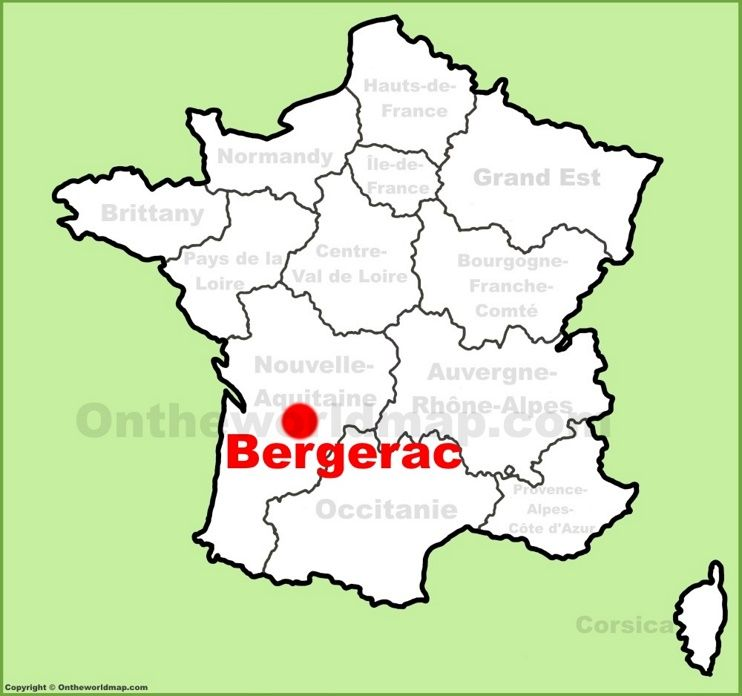 Bergerac location on the France map   Maps   Pinterest   France map ...