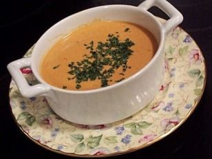 Lobster Bisque - for smoother and creamier results add extra step to puree and strain soup before adding lobster.