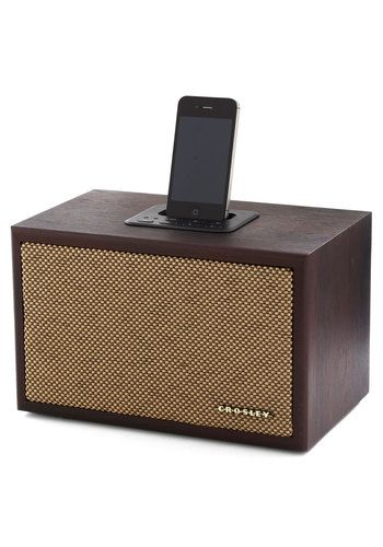 Speaker of the Household Dock for iPhone & iPod - Brown, Music, Solid, Vintage Inspired, Mid-Century, Best, Press Placement / TechNews24h.com