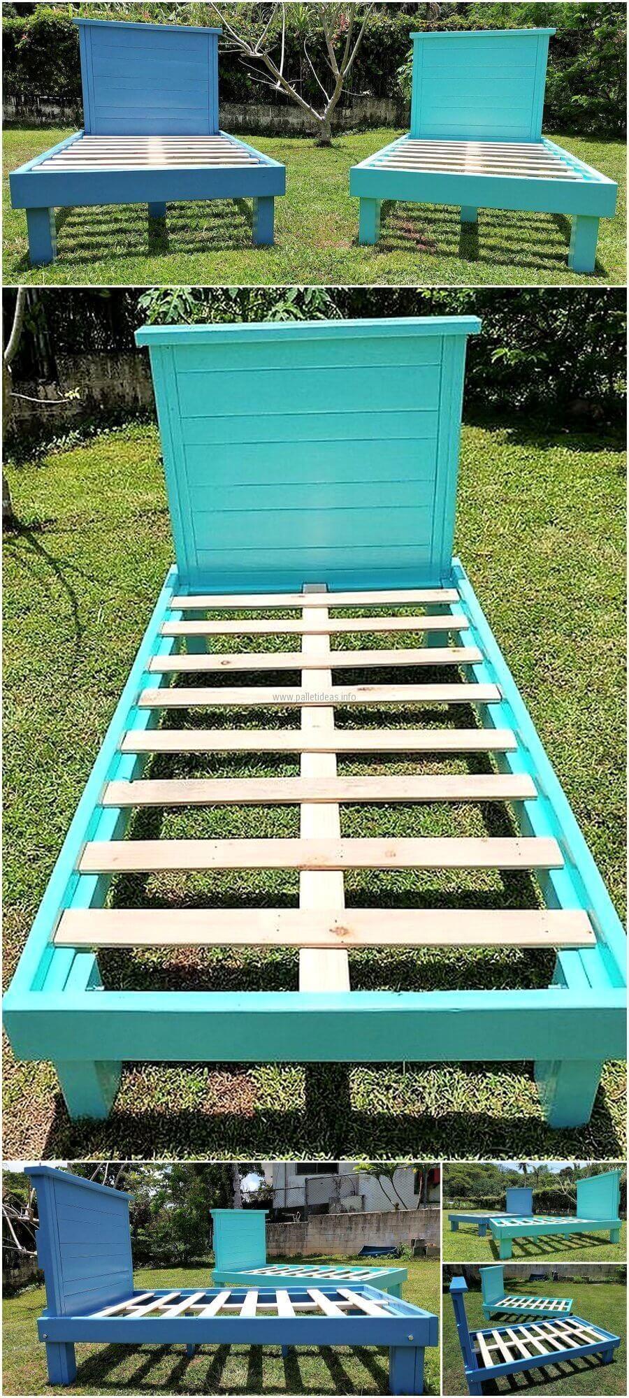 Pallets Made Twin Size Bed Frames Pallet furniture bedroom