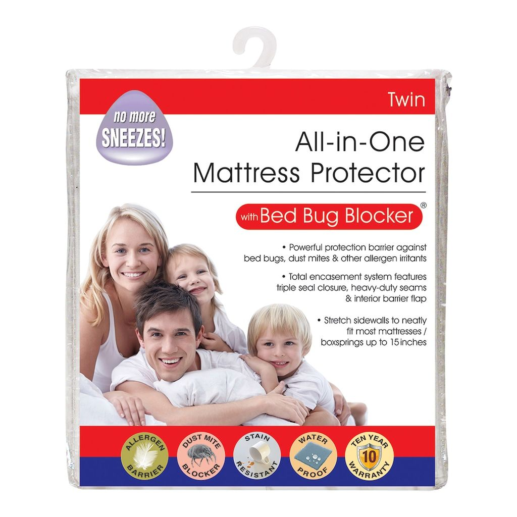Fresh Ideas Cotton Rich Mattress Protector With Bed Bug