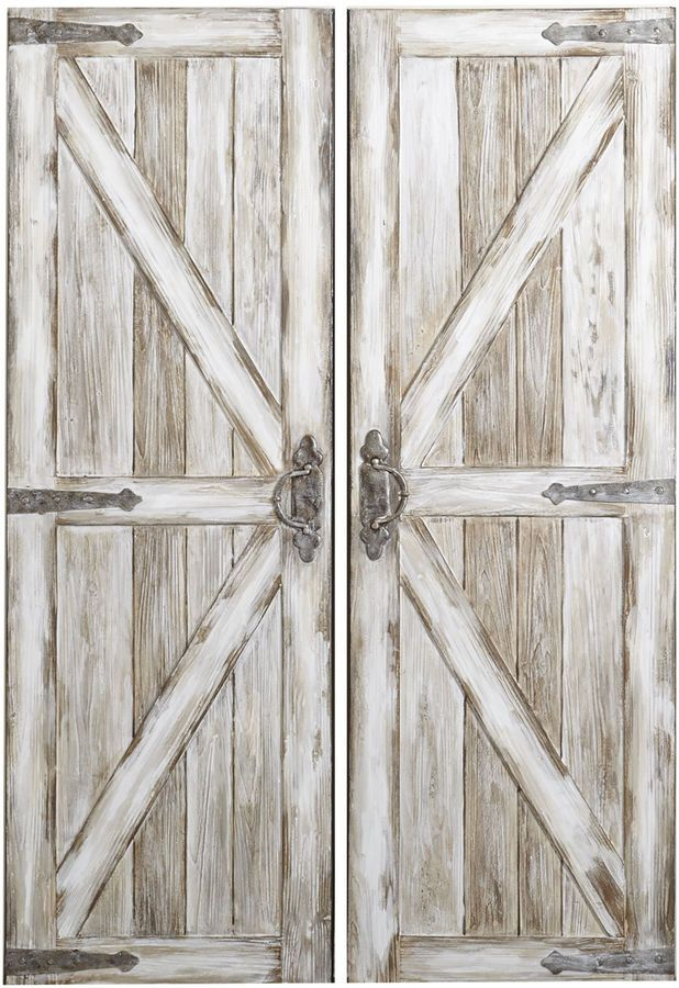 Cute Large White Rustic Barn Doors Wall Art And Decor. Perfect For Rustic  And Farmhouse