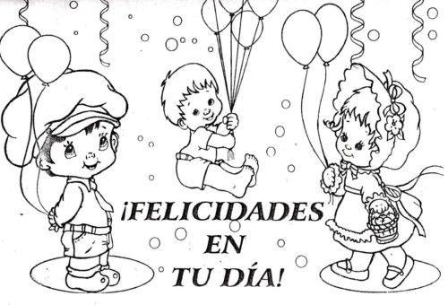 Carteles y tarjetas de feliz cumpleaños para colorear | Fondos ...