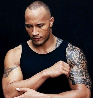 Dwayne Johnson The Rock Tatuagens Do Ator De Filmes The Rock