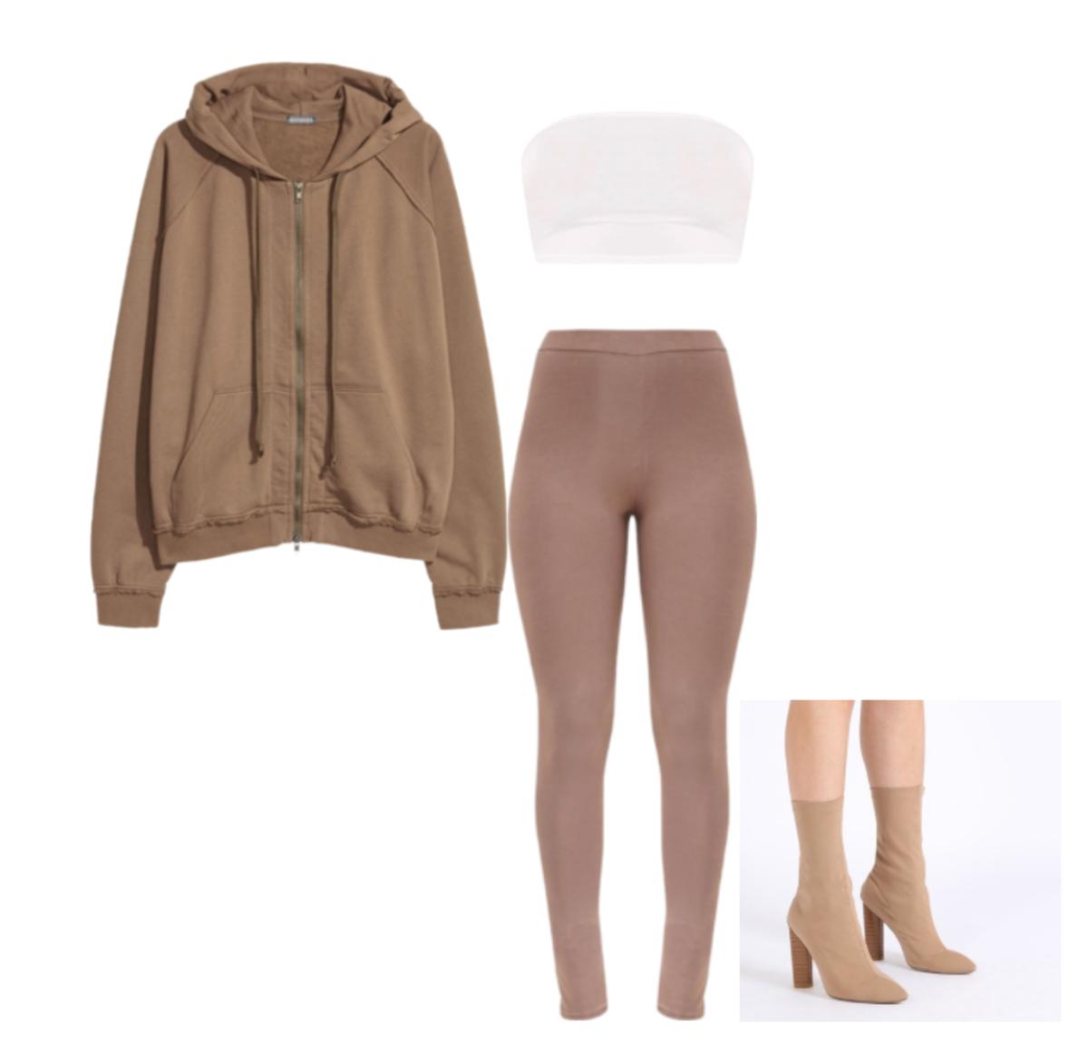 fdaa297f05221 Outfits inspired by Yeezy Season 6. Kim Kardashian inspired looks. Neutral
