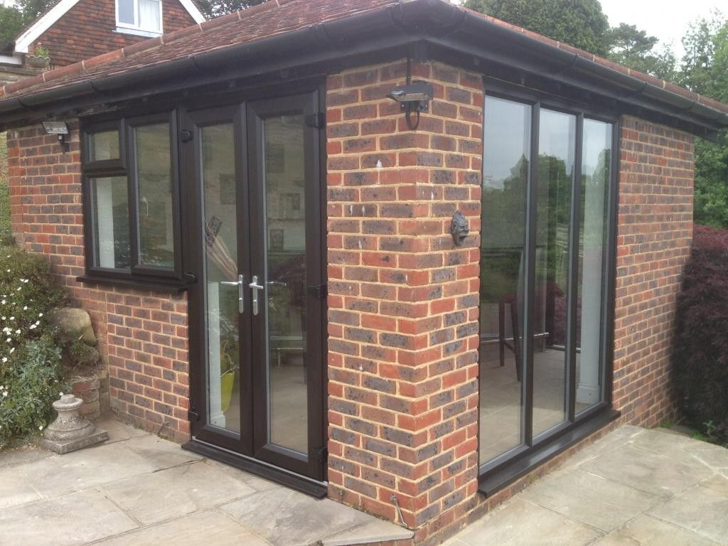 New Black Brown UPVC Windows And French Doors Dorking