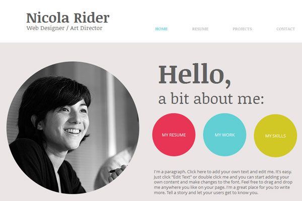 15 beautiful portfolio website for free download djdesignerlab