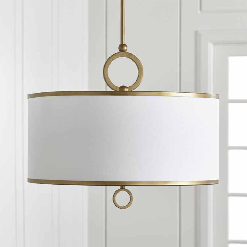 Pendant Lighting And Chandeliers Crate And Barrel Drum