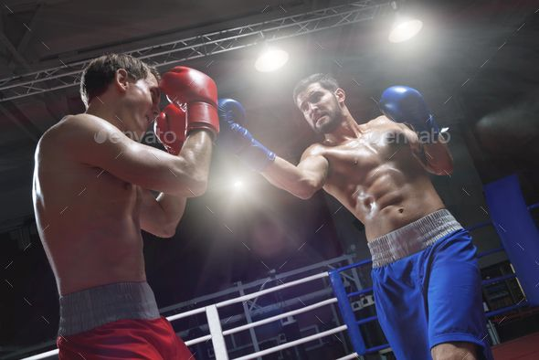 Fighting By Aboutimages Boxers Fighting In A Boxing Ring Boxers Aboutimages Fighting Ring Photo Sports Photos Life Photography