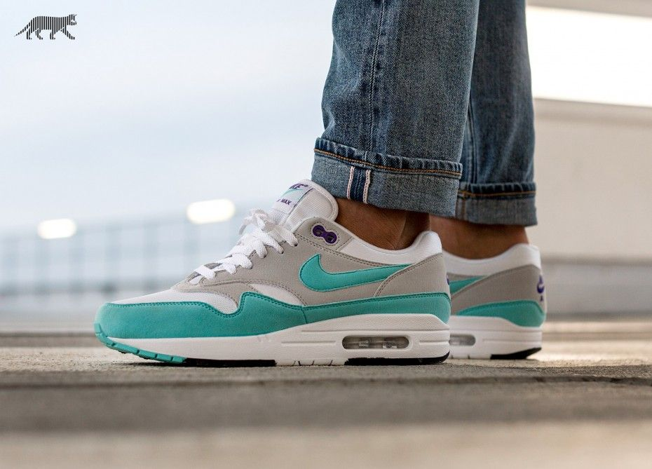 13425fa6c576 Nike    Nike Air Max 1  Anniversary  (White   Aqua - Neutral Grey ...