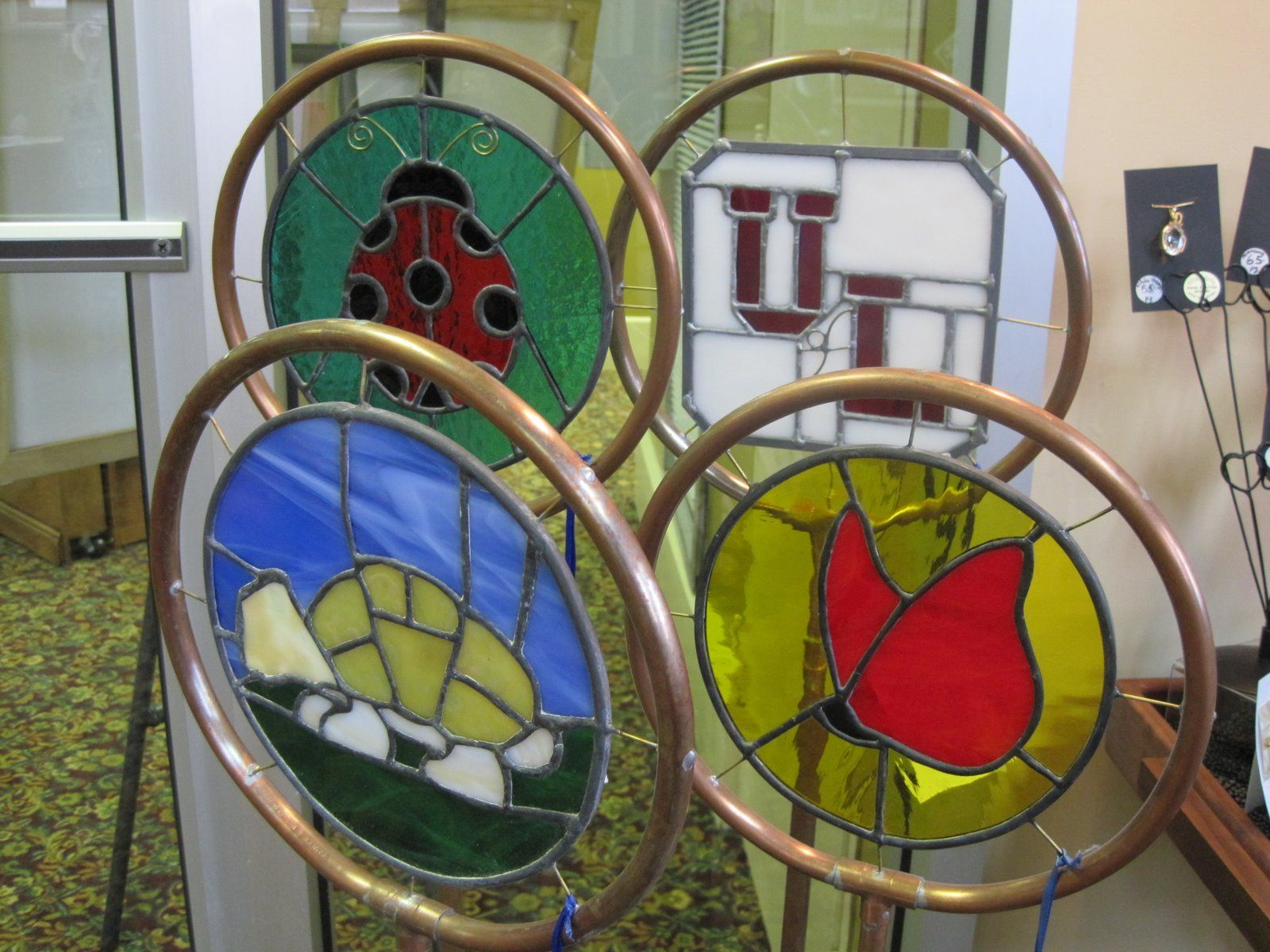 BILL BRUMM/ STAINED GLASS GARDEN ORNAMENTS | Stained glass | Pinterest