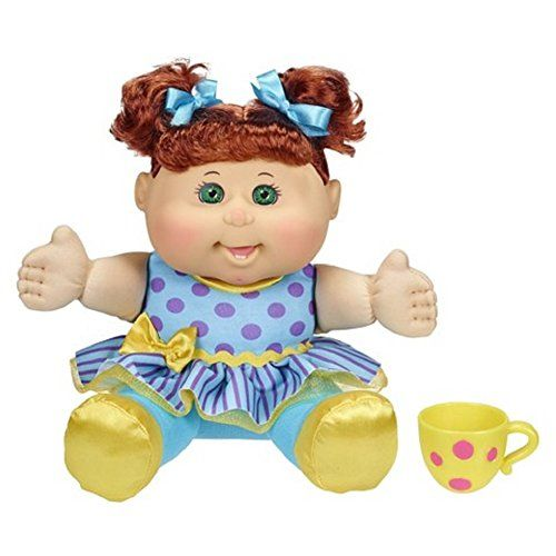 Cabbage Patch Kids Tea Party Toddler Doll Red Hair Green